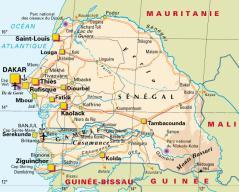 Senegal carte